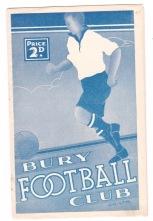 Bury v Huddersfield - 1937/1938