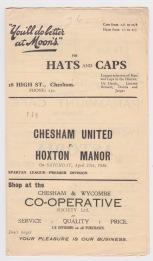 Chesham United v Hoxton Manor - 1935/1936